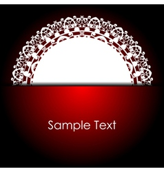 red background with white napkin vector image