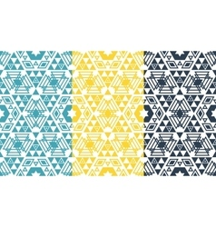Retro geometric hexagon seamless pattern vector image vector image