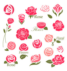 Roses design elements vector