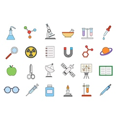 Sciense colorful icons set vector image vector image
