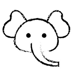 Stuffed animal elephant vector