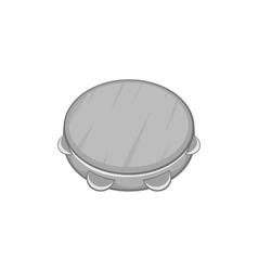Tambourine icon black monochrome style vector