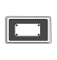 Tools blank warnings icon vector