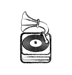 Vintage gramophone music device vector