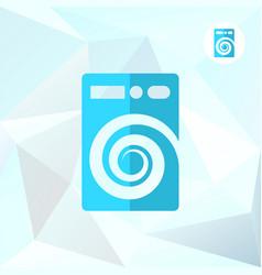 Washer machine logo on mosaic background vector