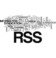 What is rss and do i need it text word cloud vector