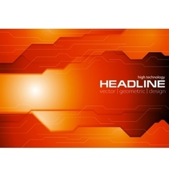 Dark orange hi-tech corporate background vector