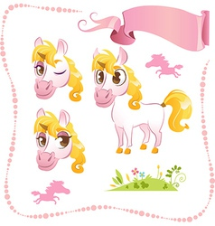 Pretty Pink Unicorn vector image