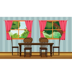 A dining table vector
