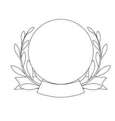 Decorative wreath icon vector