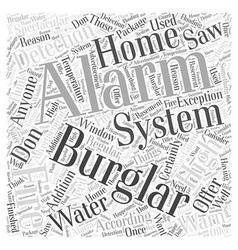 Burglar alarm systems word cloud concept vector