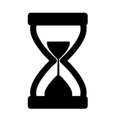 hourglass icon silhouette vector image