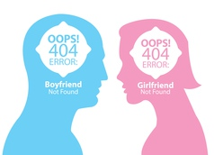Boyfriend and girlfriend not found vector