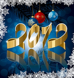 2012 ribbon vector image