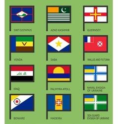 Flags flat set-17 vector image