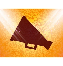Megaphone loud-hailer flat modern web button and vector