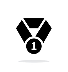 First place medal seample icon vector