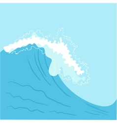 Blue high sea wave vector