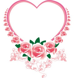 Frame in the victorian style with roses and butter vector