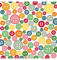 Seamless sewing buttons colorful pattern vector
