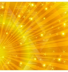 Gold background with beams vector