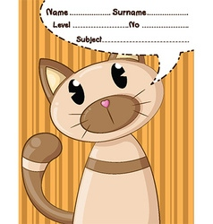 Cat cartoons and background vector