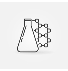 Chemistry linear icon vector