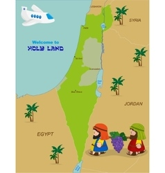 Map of Israel with two spies vector image