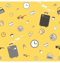 Waiting airplane seamless pattern vector