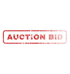 Auction bid rubber stamp vector