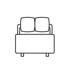 bed line icon vector image vector image
