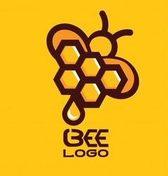 Bee logo 7 vector