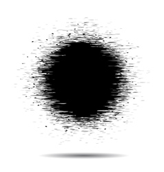 Blsck grunge Circle spot on a white vector image