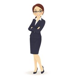 Businesswoman standing vector image vector image