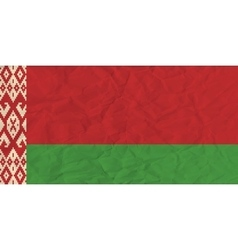 Byelorussia paper flag vector image