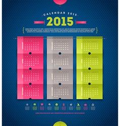 Calendar 2015 template design vector image vector image