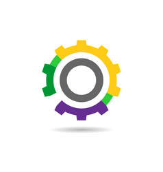 Colorful gear icon vector