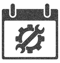 Configuration tools calendar day grainy texture vector