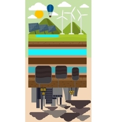 Eco Concept and Environmental Pollution by Factory vector image vector image