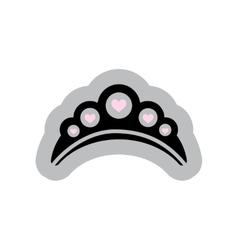 Flat web icon on white background diadem vector