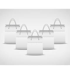 four white shopping bag vector image