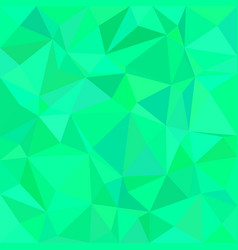 Green triangle tile mosaic background - polygon vector