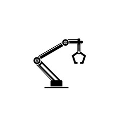 industrial machine robot arm icon vector image vector image