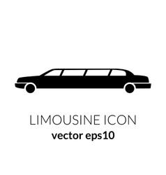 Limousine service black and white graphic icon vector