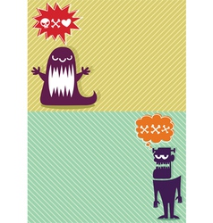 Monster Backgrounds vector image vector image