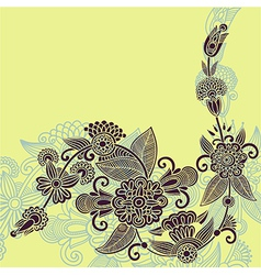 original hand draw ornate Stylish floral backgroun vector image