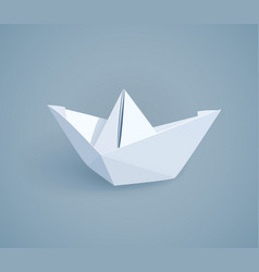 paper origami ship handmade vector image vector image
