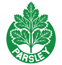 parsley label vector image