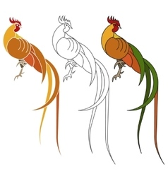 Rooster animal of Chinese New year vector image vector image