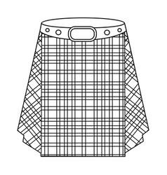 Scottish tartan kiltthe men s skirt for the scots vector